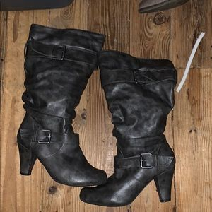 Grey boots size 8.5